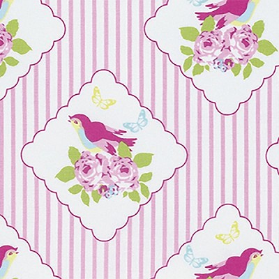Zoey's Garden PWTW117 Pink Framed Birds by Free Spirit