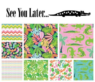 See You Later 8 Fat Quarter Set by Maude Asbury for Blend