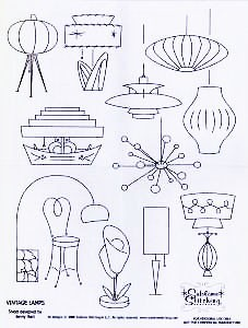 Vintage Lamps Embroidery Pattern by Sublime Stitching