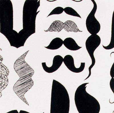 A Must Stache 7977-D Black/White by Nicole Miller for Alexander Henry