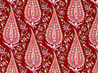 Love AB47 Wine Cypress Paisley by Amy Butler EOB