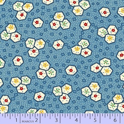 Aunt Grace In a Pickle - Blue by Marcus Fabrics