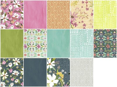 Blush & Blooms 14 Fat Quarter Set by Iza Pearl for Windham
