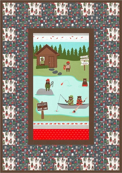 Cabins & Canoes Quilt Kit by Robert Kaufman