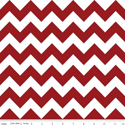 Chevron Medium C320-85 Crimson by Riley Blake EOB