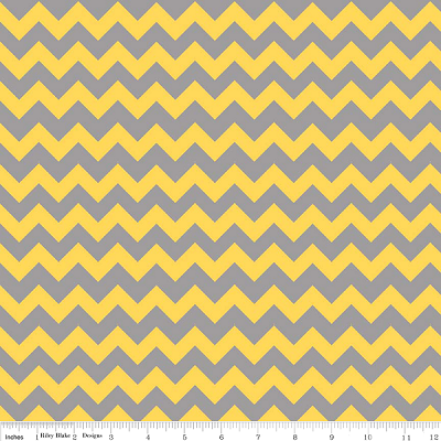 Chevron Small C400-11 Yellow Gray by Riley Blake