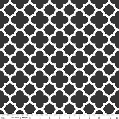 Quatrefoil C435-110 Black by Riley Blake