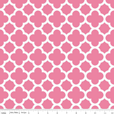 Quatrefoil C435-70 Hot Pink by Riley Blake
