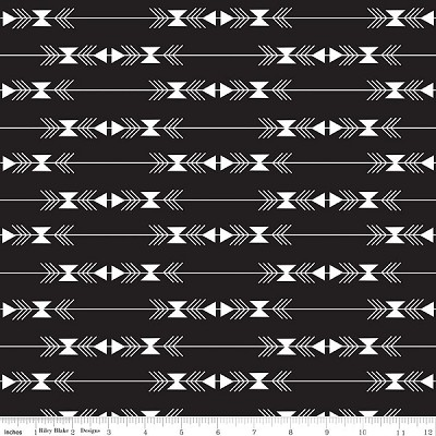 Four Corners C4872 Black Stripe by Simple Simon for Riley Blake
