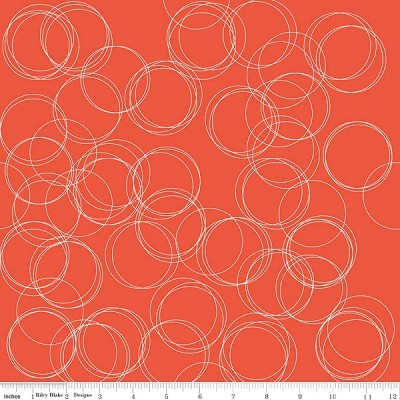 Four Corners C4873 Coral Circles by Simple Simon for Riley Blake