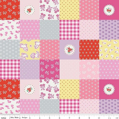 Strawberry Biscuit C5101 Pink Cheater by Elea Lutz for Penny Rose