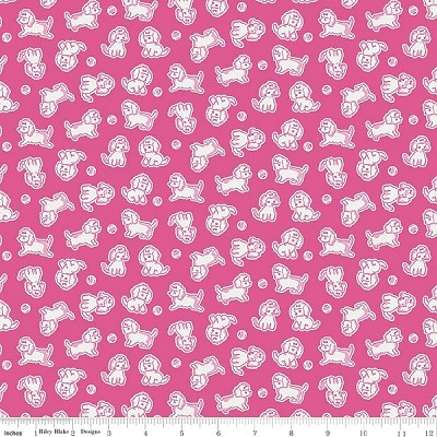 Strawberry Biscuit C5104 Hot Pink Poodle by Elea Lutz for Penny Rose