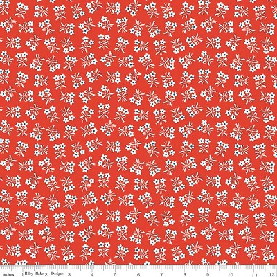 Strawberry Biscuit C5106 Red Daisy by Elea Lutz for Penny Rose