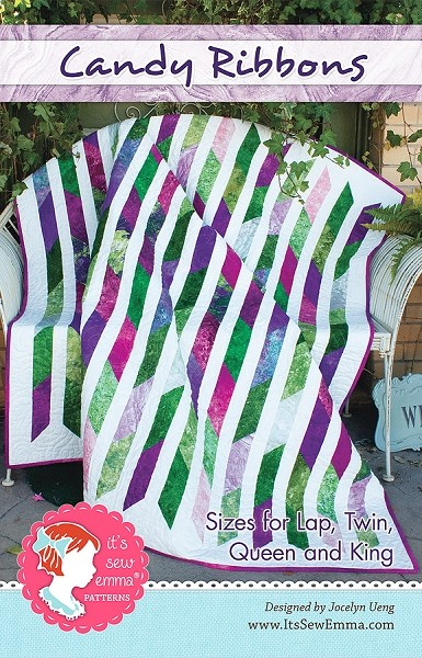Candy Ribbons Quilt Pattern by It's Sew Emma