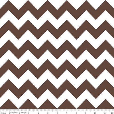 Chevron Medium C320-90 Brown by Riley Blake