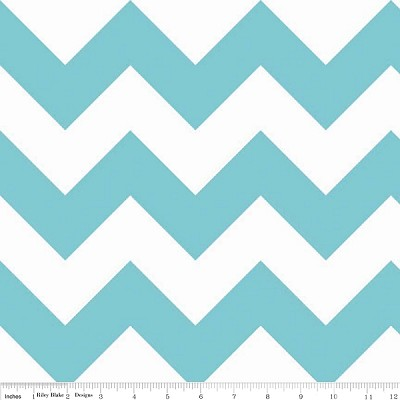 Chevron Large C330-20 Aqua by Riley Blake