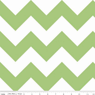 Chevron Large C330-30 Green by Riley Blake