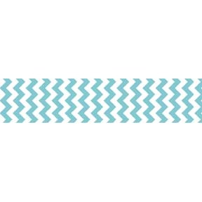 "Chevron Grosgrain Ribbon 7/8"" Aqua by Riley Blake"