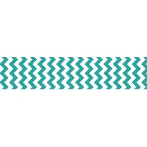 "Chevron Grosgrain Ribbon 7/8"" Teal by Riley Blake"