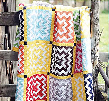 Chevron Squares Quilt Kit by Riley Blake