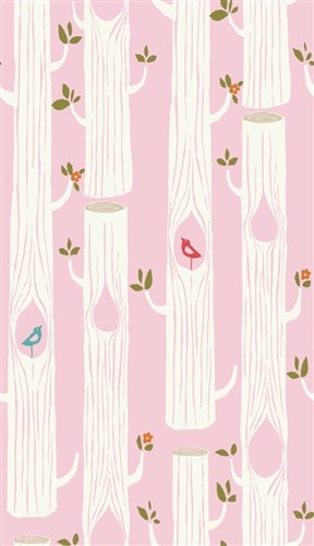 Circa 52 Organic JM16 Pink Tree Stripes by Monaluna for Birch