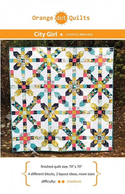 City Girl Quilt Pattern by Orange Dot Quilts
