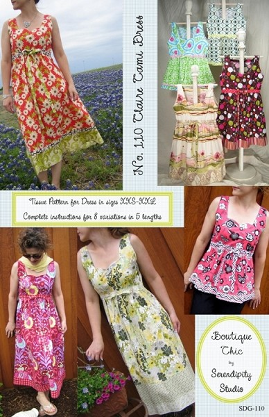 Claire Cami Dress Pattern by Serendipity Studio