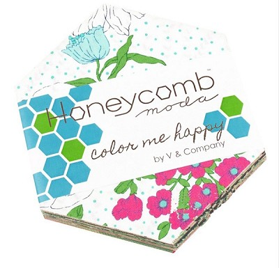 Color Me Happy Honeycomb by V & Co for Moda