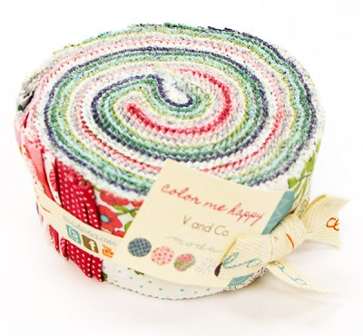Color Me Happy Jelly Roll by V & Co for Moda