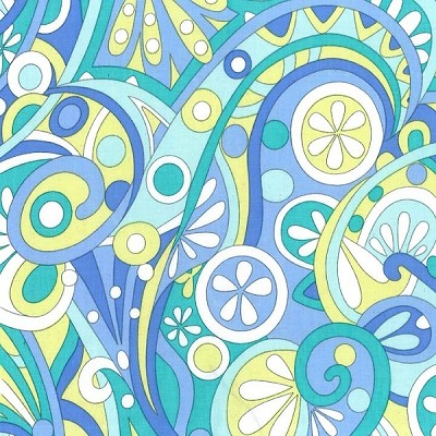 Mod Swirls CX3297 Aqua by Michael Miller