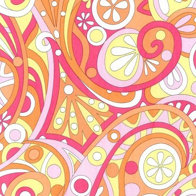 Mod Swirls CX3297 Peach by Michael Miller