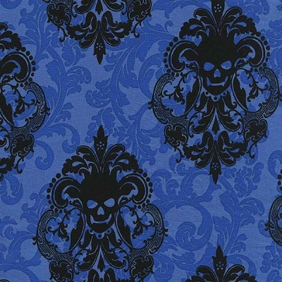 Goth Damask CX6487 Royal by Michael Miller EOB