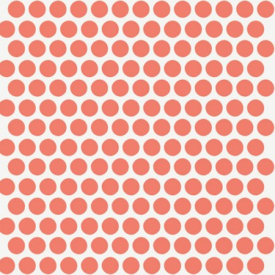 Mod Basics Organic MB-01 Coral on Cream Dottie by Birch Fabrics