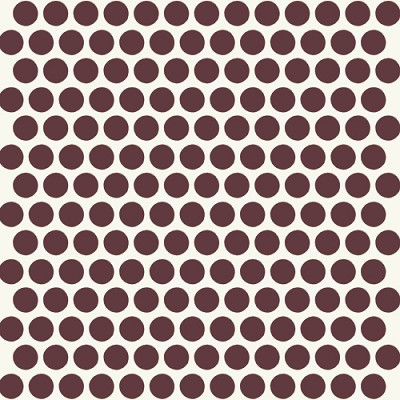 Mod Basics Organic MB-01 Mahogany on Cream Dottie by Birch Fabrics