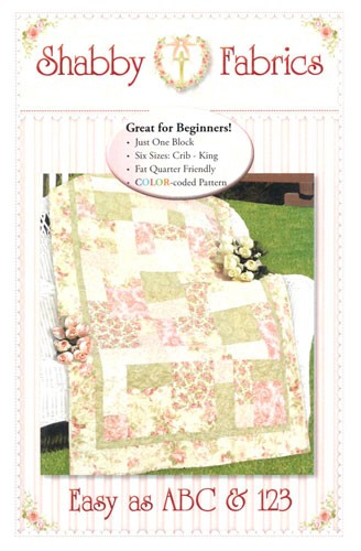 Easy as ABC & 123 Quilt Pattern by Shabby Fabrics