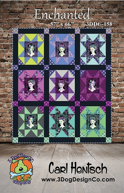 Enchanted Quilt Pattern by 3 Dog Design Co