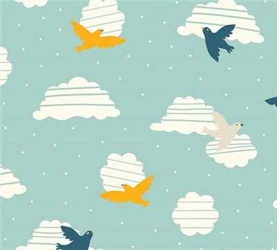 Everyday Party Organic EI-14 Birds in Flight by Birch