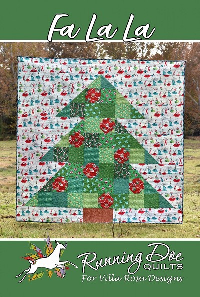 Fa La La Quilt Pattern by Running Doe Quilts