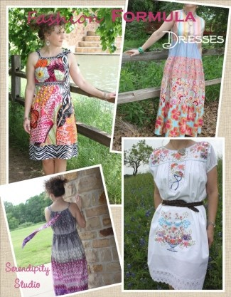 Fashion Formula Dresses Pattern Booklet by Serendipity Studio