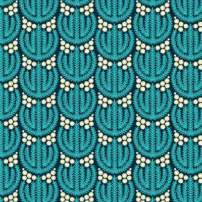 Biology Organic 1258-12 Navy Flora by Sarah Watson for Cloud 9