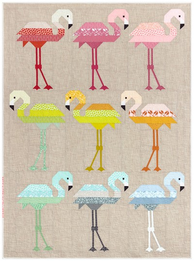Florence Flamingo Quilt Kit by Elizabeth Hartman for Robert Kaufman