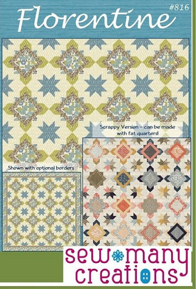 Florentine Quilt Pattern by Sew Many Creations