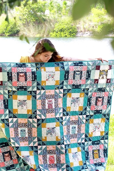 Foxfire Quilt Kit by Maureen Cracknell for Art Gallery