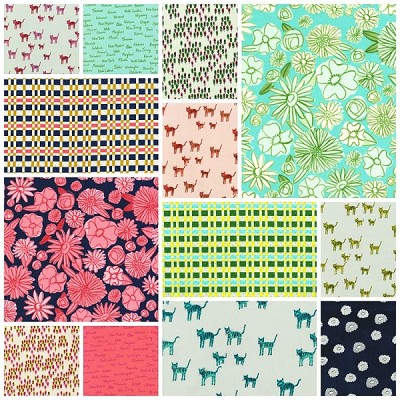 Hatbox 13 Fat Quarter Set by Cotton + Steel