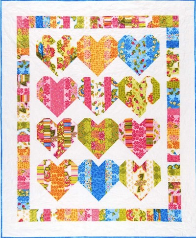 Heart Strings Quilt Pattern by V and Co