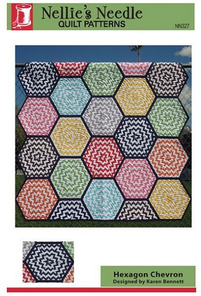 Hexagon Chevron Quilt Pattern by Nellie's Needle