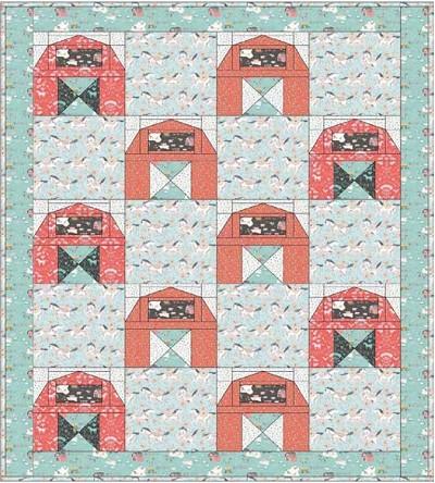 Down on the Farm Quilt Kit by Ana Davis for Blend