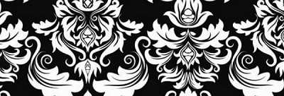Illustrations 762-K Black Damask by P & B Textiles