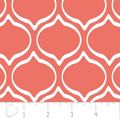 Kate 2141301-1 Grapefruit Ogee by Camelot Fabrics