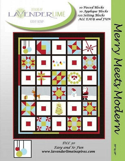 Merry Meets Modern Quilt Pattern by Lavender Lime